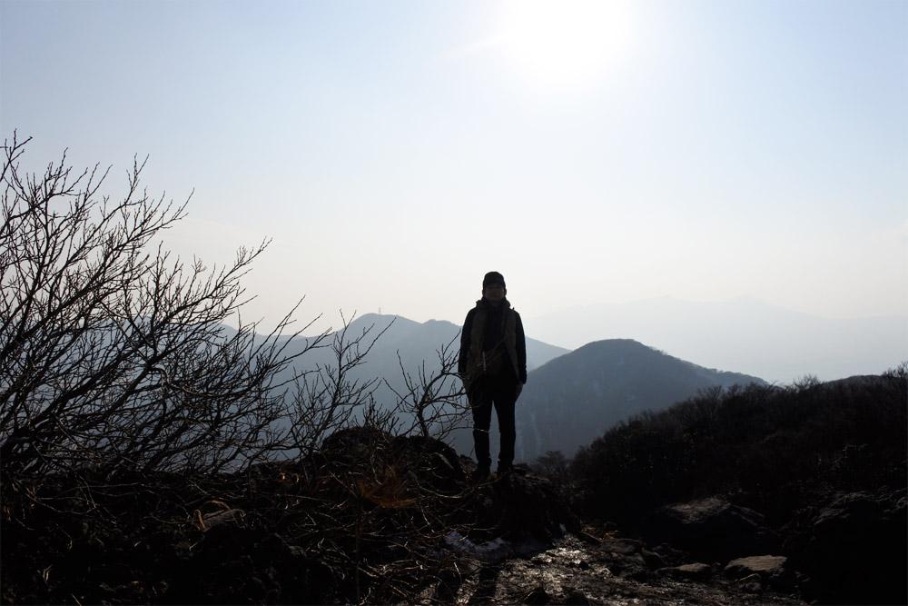 金時山の頂上